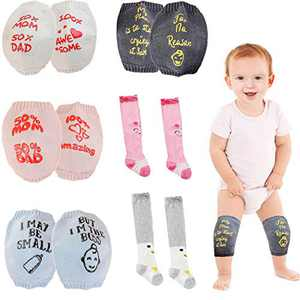 Crawling Knee Pad for Kids and Toddlers, 6-24 Months Unisex Baby Knee Pad 6 Pair