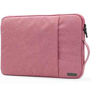 """OneGET Laptop Sleeve for 13 Inch Macbook Air Macbook Pro Internal Fluff Laptop Bag With Accessory Pocket, Protective Carrying Case Cover for 13"""" Dell Hp Asus Acer Chromebook(13-13.3Inch, Pink)"""
