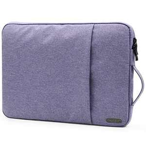 OneGET Laptop Sleeve Case Compatible with MacBook Pro 16 inch15-15.6 inch MacBook Pro Retina 2012-2015Notebook, Polyester Vertical Watercolor Marble Bag with Pocket(15.6-16Inch, Lavender Purple)