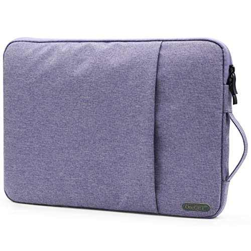 """OneGET Laptop Sleeve for 13 Inch Macbook Internal Fluff Laptop Bag With Accessory Pocket, Protective Carrying Case Cover for 13"""" Lenovo Dell Hp Asus Acer Chromebook(13-13.3Inch, Lavender Purple)"""