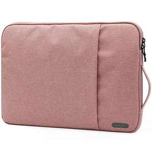 """OneGET Laptop Sleeve For 13 Inch Macbook Internal Fluff Laptop Bag With Accessory Pocket Protective Carrying Case Cover for 13"""" Lenovo Dell Hp Asus Acer Chromebook(13-13.3Inch, Rose Pink)"""