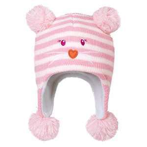 AQOTHES Kids Boys Girls Winter Hat Knit Earflaps Cute Pompom Warm Fleece Lined Beanie