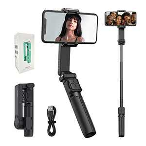 MOZA Nano SE Selfie Stick Gimbal, Extendable Smartphone Gimbal with Bluetooth Remote for Vlogging YouTube Travel Shooting, Time-Lapse & Slow Motion Mode - Black