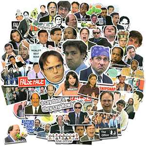 100pcs The Office Merchandise Stickers, The Office TV Show Stickers for Laptop Water Bottle Phone Case Luggage