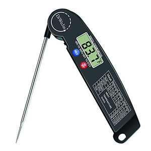 DiWoJin Digital Meat Thermometer, Black Color, Instant Read Meat Thermometer for Grill and Cooking Food in Kitchen, Meat Probe Thermometer Instant for Oven Grilling