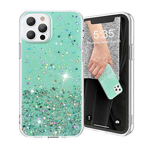 AKUDY Crystal Glitter Case for iPhone 12 Case/iPhone 12 Pro Case 2020, Soft & Flexible TPU Cover Shiny Sparkling Case Women Girls - 6.1 Inch
