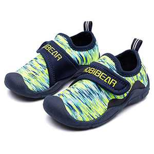 Toddler Boys Sports Sneakers Non Slip Lightweight Walking/Running Outdoor Sport Shoes(Green-Size 13 Little Kid)