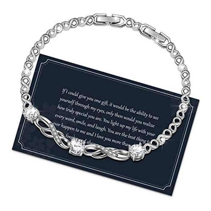 Tennis Bracelet,Women Bracelets,Infinity Bracelets for Women Crystal Women Bracelet S925 Bracelet,Gift for Women 3,4mm Zircon,17,18,19cm,20cm,Silver,Gold,Rose Gold,D Color,VVS Clarity,with Gift Box