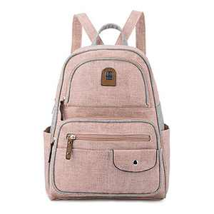 L&H Casual PU Leather Small Backpack Purse School Backpack Shoulder Bag Fashion Travel Crossbody Bag Women's Backpack