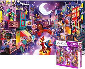 FERICS 1000 Piece Jigsaw Puzzles for Adults - Puppet City Puzzle for Teens Boys Girls