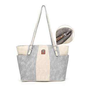 L&H Handbags for Women Soft Faux Leather Shoulder Bag Purse Fashion Casual Large Capacity Handbag