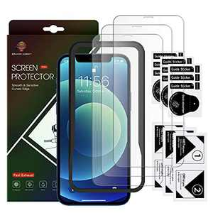 """3 Pack Tempered Glass iPhone 12 Screen Protector smooth and sensitive Curved Edge for iPhone 12 Pro Max 6.7"""", protection 2.5D Edge Anti Scratch Work Most Case"""