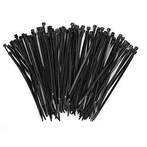 Zip Ties 200pcs, YIWINIAID 8 Inch Width 0.18 Inch Cable Ties, Nylon Self-locking Cable Wire Ties for Indoor and Outdoor (Black)