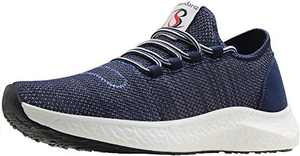 BenSorts Men's Tennis Shoes Comfortable Walking Shoes Cross Training Weight Lifting Size 12.5 Blue