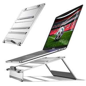 """Laptop Stand - Newaner Adjustable Laptop Holder - Aluminum Multi-Angle Laptop Riser Compatible with 10""""-17"""" MacBook Pro/Air, Samsung, HP, Lenovo, Surface Laptop and so on"""