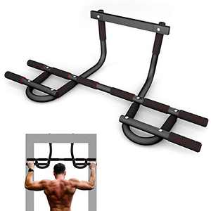 Lipo Doorway Pull Up Bar, Multi-Grip Pull-UP/Chin-UP Bar Trainer for Home Gym with Multiple Foam Handles, U Pull-Up Bar for Home Gym