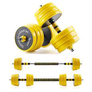 Gnpolo Adjustable Dumbbells Set of 2 Free Weights for Exercises Barbell Rod Home Gym Fitness
