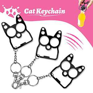 Yoruii Cat Ear Keychain Bottle Opener, Multi-Function Cat Keychain, Can Be Used Bottle Opener and Hexagon Wrench 3PACK