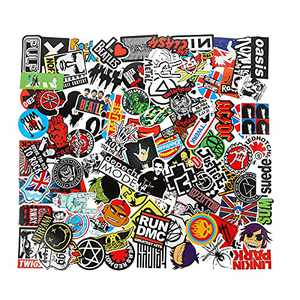 Band Stickers 100pcs YIWINIAID Sticker Pack,Skateboard Stickers,Laptop Stickers for Water Bottles,Laptop,Luggage,Stickers for Kids and Adults