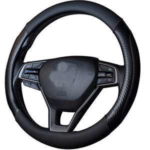 WHHW Universal Steering Wheel Cover with Microfiber Leather for Car Truck SUV, Anti-Slip Steering Wheel Cover 15 inchs…
