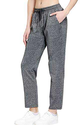 Women's Stretch Lounge Sweatpants Joggers Ankle 7/8 Athletic Track Yoga Dress Pants Deep Gray XS