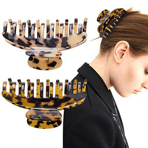 """Hair Claw Clips for Thick Hair - 3.5 """" Medium Leopard Claw Hair Clips Accessories for Women Women Banana Hair Clips French Design Butterfly Jaw Clipss French Design Butterfly Jaw Clips"""
