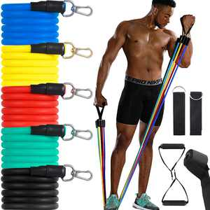 Canghai Resistance Bands Set Exercise Bands Stackable Up to 150LBS Home Gym Fitness for Gym Weight Exercise Men and Women
