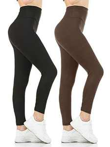 Gnpolo High Waisted Leggings Pack of 2 Super Soft Opaque Slim Tight Tummy Control Yoga Pants
