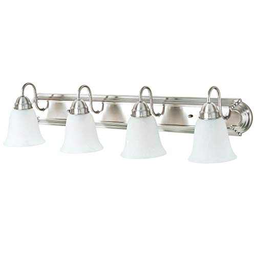 NEOUS 4-Light Brushed Nickel Vanity Light with Alabaster Glass Shade (E26 Base, Bulb Not Included)