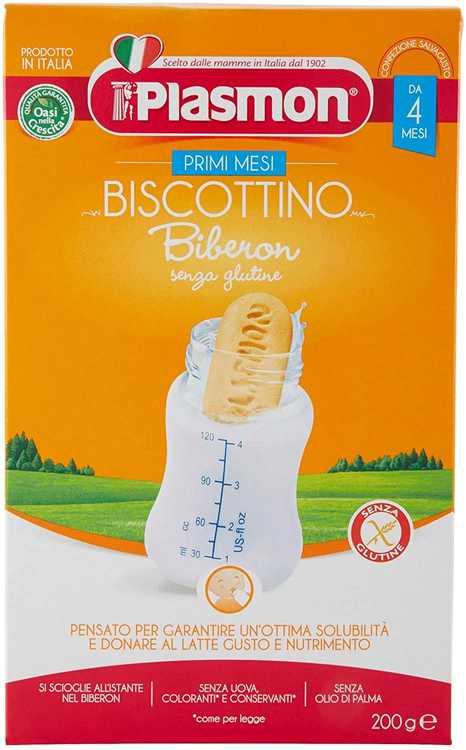 PLASMON Biscottino Biberon Children's Biscuits for Baby Bottles Baby Food from 4 Months 200g Gluten Free