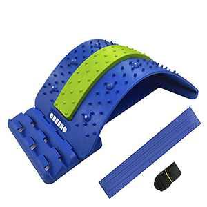 GREENO Lower Back Stretcher for Back Pain Relief, 4 Adjustment Multi Level Lumbar Support, Spine Aligner & Spine Board for Car & Chair & Bed, Back Cracker Decompressor, Spine Deck, Back Hero