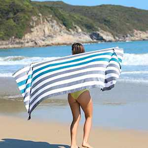 HOdo Beach Towel 200x90cm Microfiber Sandfree Travel Towel Quick Drying Sandproof Beach Blanket