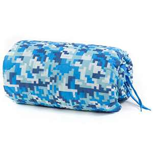 Farm Blue Tactical Camping Military Blanket - Woobie Poncho Liner - Lightweight Multifunctional All Weather Blanket Perfect for Camping Backpacking and Other Outdoor Activities - Blue Winter Snow