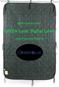 Farm Blue Tactical Camping Military Blanket - Woobie Poncho Liner - Lightweight Multifunctional All Weather Blanket Perfect for Camping Backpacking and Other Outdoor Activities (Digital Green Laser)