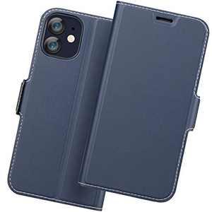 Holidi iPhone 12 Pro Flip Case, iPhone 12 Pro Wallet Case, iPhone 12 Pro 5G Case with Card Holder. iPhone 12 Pro Leather Case, iPhone 12 Pro Phone Case, Slim Folio Cover, Full Protection. Blue