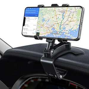 Car Phone Holder Mount, Upgraded Phone Car Holder for Dashboard, 360° Rotation Adjustable Car Phone Mount for 4 to 7 inch Smartphones (Black)