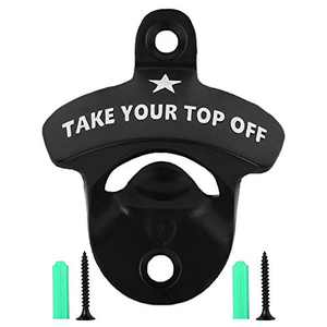 Bottle Opener Wall Mounted, Christmas Funny Wall Mount Bottle Opener for Men Dad Beer Lovers,Novelty Birthday Fathers Day with Mounting Screws Wall Anchors(1 Pack)