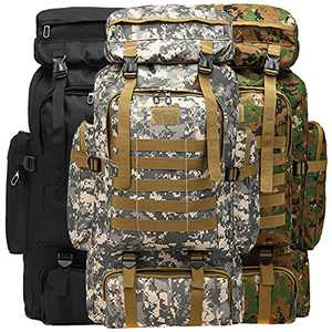 Wesoke 80L Camping Hiking Military Tactical Backpack, Adjustable Waterproof Large Capacity Travel Daypacks Outdoor MOLLE Rucksack, City Camo