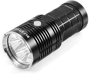 BLF Q8 Flashlight with NarsilM Firmware, 4pcs Cree XPL V6 3D LED, 4x 18650 Rechargeable Batteries(inserted)