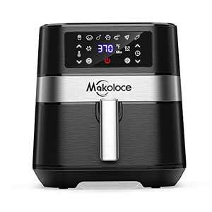 Makoloce Air Fryer,Large XL 5.8 Qt 1700W Oilless Cooker Airfryer Oven with Touch Control Panel,7 Presets with 100 Recipes,Nonstick Basket Easy Clean, Preheat Auto Shut Off