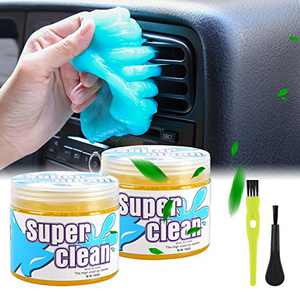 Ramida Car Dust Cleaning Gel - Universal Auto Putty Car Dust Remover Cleaner Gel for Car Interior Cleaner Keyboard Detailing Cleaning 2 Pack Yellow