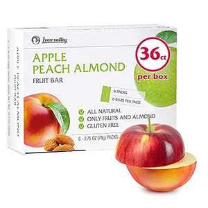 Healthy Fruit Bars Sticks Snacks - [36 Bars] Pure Dried Apple Snack Bars - 100% Plant-Based - High Fiber - All Natural - Children & Adults - Vegan & Vegetarian