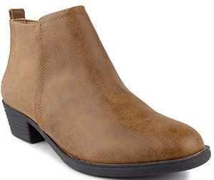 Sugar Women's Trixy Ankle Boot Cognac 9
