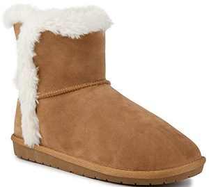Sugar Women's Poppy Slip On Winter Boots Warm Winter Booties Cognac 10