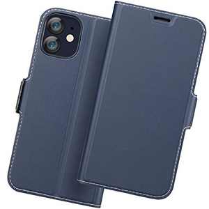 Holidi iPhone 12 Flip Case, iPhone 12 Wallet Case, iPhone 12 5G Case with Card Holder. iPhone 12 Leather Case, iPhone 12 Phone Case, Slim Folio Cover, Full Protection. Blue