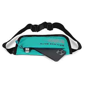 SINNO Women's Slim Fanny Pack, Lightweight Running Waist Pack for Carrying Most Smart Phone (-7.0 inches) (Dark Cyan)