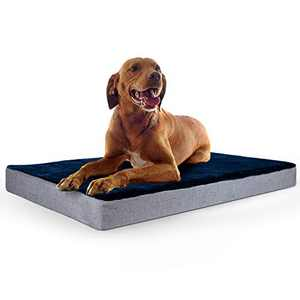 """INVENHO Memory Foam Dog Bed for Medium Large Extra Large Dogs,40"""" x 27""""Large Size Orthopedic Dog Bed, Therapeutic Joint & Muscle Relief Removeable & Washable Bed Cover with Waterproof Inner Lining"""
