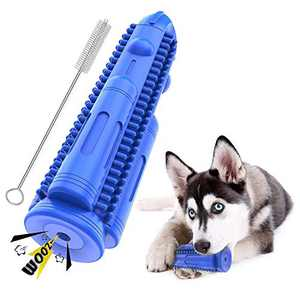Pet Lavu Dog Toothbrush Chew Toys Durable Dog Dental Squeak Rubber Teeth Cleaning Chewing Toy Brush Sticks Bones for Medium Small Dogs Pets (15 lbs-50 lbs)