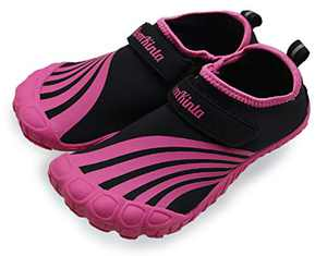 BomKinta Kids Summer Outdoor Water Shoes Barefoot Girls Quick Drying Athletic Shoes for Beach Swim Pool or Water Sport Indoor Comfortable House Walking Sneakers Rose Size 4 M US Big Kid