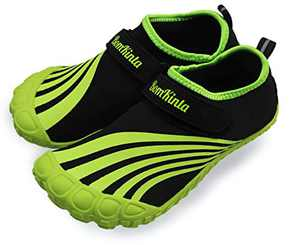BomKinta Kids Summer Outdoor Water Shoes Barefoot Boys Girls Quick Drying Athletic Shoes for Beach Swim Pool or Water Sport Indoor Comfortable House Walking Sneakers Green Size 3 M US Big Kid